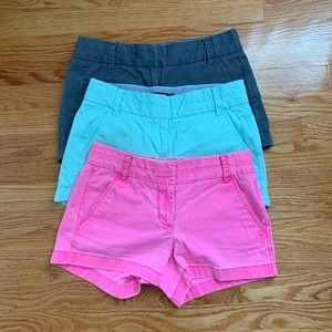 "THREE J.Crew 3"" seam cargo shorts"